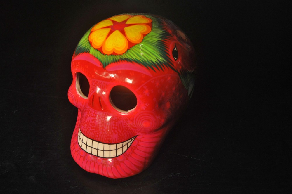 Day of the dead pink Mexican sugar skull