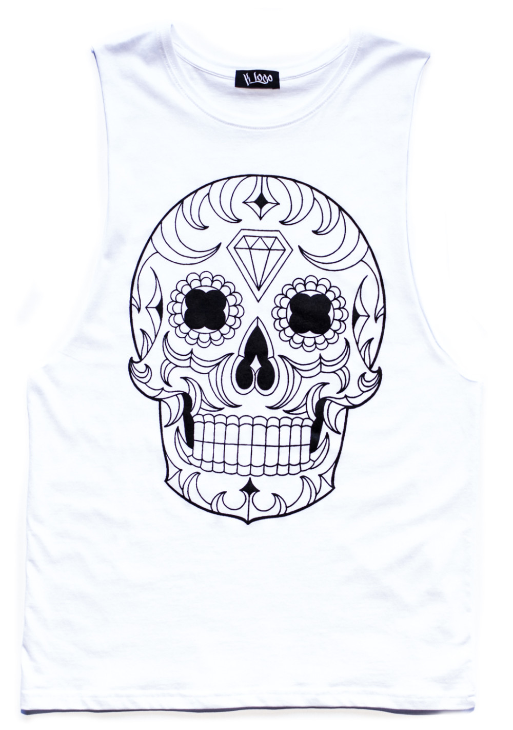 Day of the dead Mexican Sugar Skull Sleeveless Tee