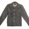 Altered Vintage Denim Jacket with Day of the Dead Mexican skull Patch