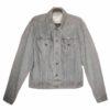 Altered Vintage Denim Jacket with Geometric Mayan Deer Patch