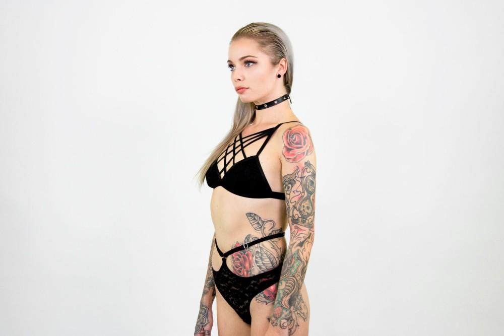 G string Teal lace underwear
