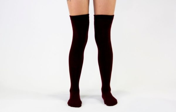 Maroon Blood High Socks