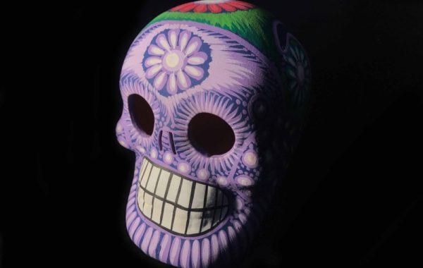 Day of the dead morado skull