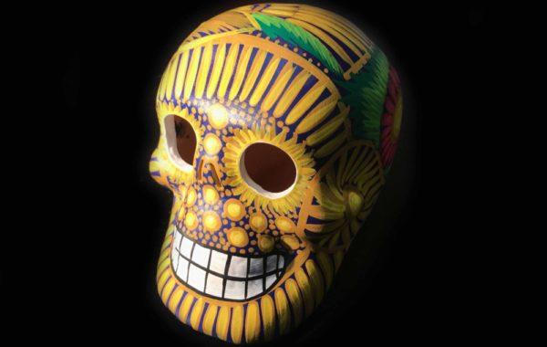 Day of the dead amarillo skull