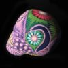 Day of the dead morado skull