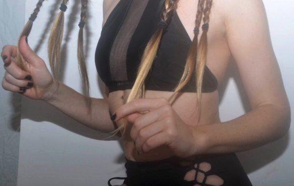 La loca Black Halter Top Bikini